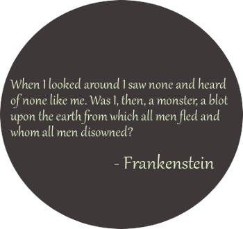 frankenstein creature quotes